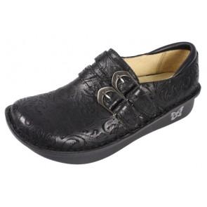 Alli Black Embossed Paisley Shoe