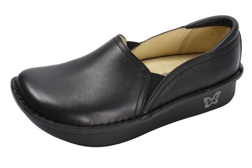 Debra Professional Black Nappa Leather Shoes