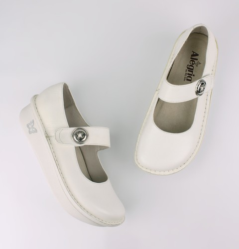 Paloma White Nappa Professional Mary Jane