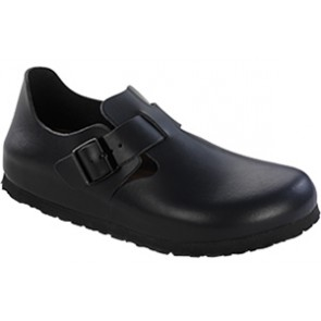 London Soft Footbed Hunter Black Leather