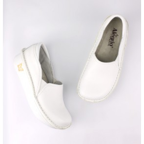 Debra Professional White Leather Shoes