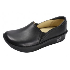 Debra Professional Black Nappa Leather Shoes