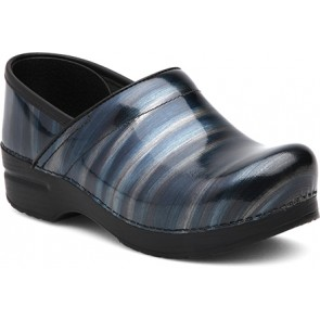 PROFESSIONAL  Silver / Blue Stripe Patent Leather