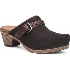 MELANIE Black Milled Nubuck Leather