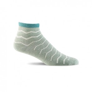SOCKWELL WOMEN'S PLANTAR EASE QUARTER FIRM COMPRESSION SOCKS (Celadon 410)