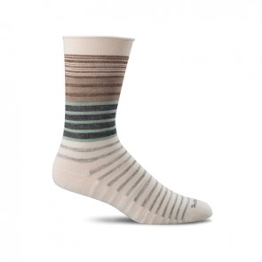 SOCKWELL WOMEN'S PLANTAR EASE CREW FIRM COMPRESSION SOCKS (Natural 015)