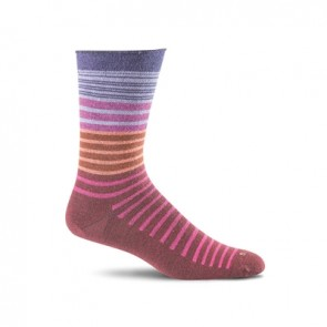 SOCKWELL WOMEN'S PLANTAR EASE CREW FIRM COMPRESSION SOCKS (Port 570)